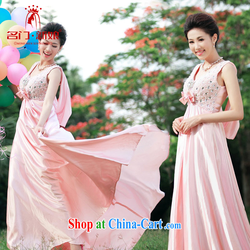 The bride's wedding dresses long, small tail dress uniform toast wedding dress uniforms M 868