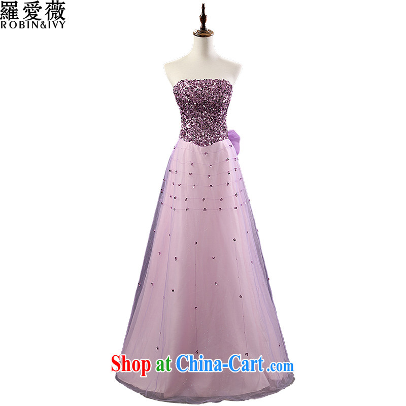 Paul love Ms Audrey EU (RobinIvy) bridesmaid dress uniform toast 2015 New Long dress L 12,121 violet S