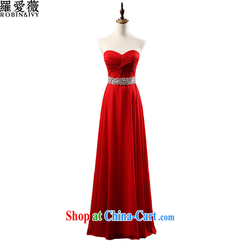 Paul love Ms Audrey EU Yuet-mee, RobinIvy) toast serving long 2015 new wipe chest stylish bridal wedding dress L 12,142 red XL