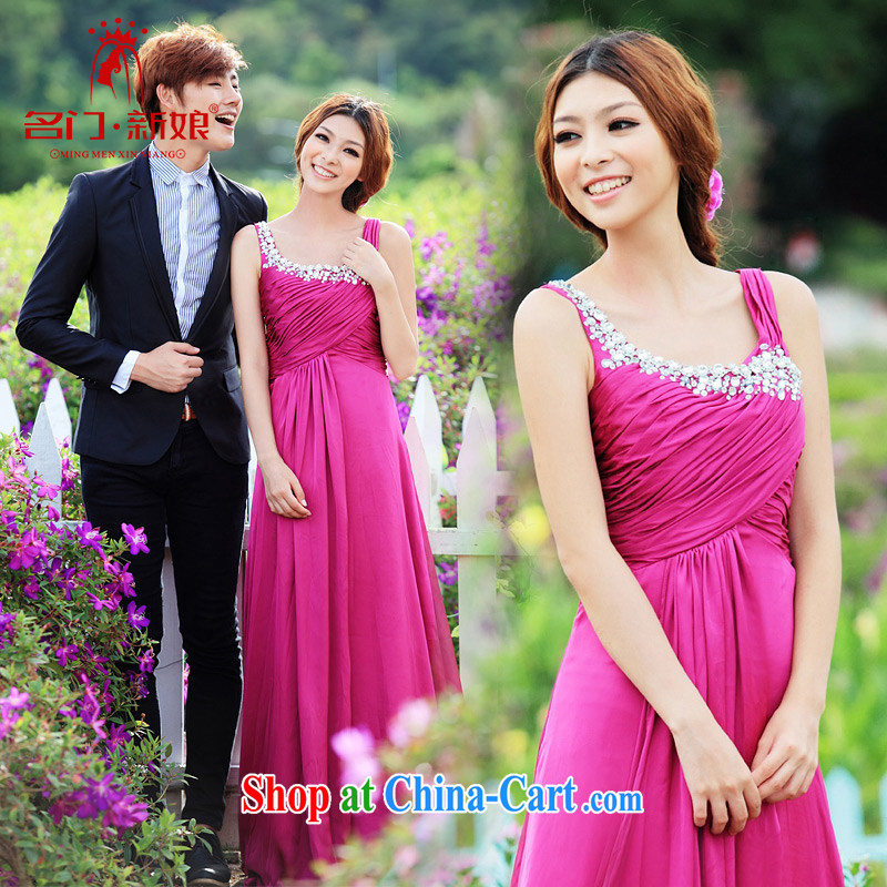 The bride's wedding dresses wedding toast clothing wedding dress small tail show serving evening dress 229 S