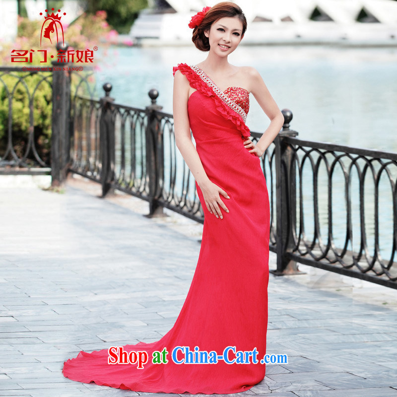 The bride's wedding dresses, shoulder-length dresses, bows service banquet service new 233 L