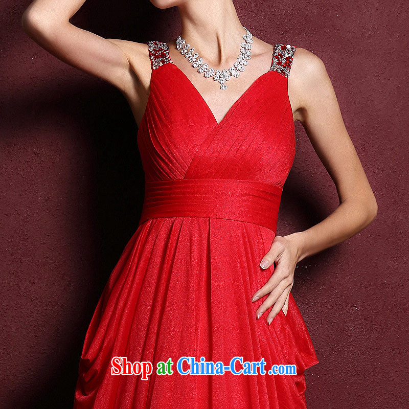 The bride's wedding dresses 2015 New Red wedding dresses toast long evening dress 285 M, the bride, shopping on the Internet