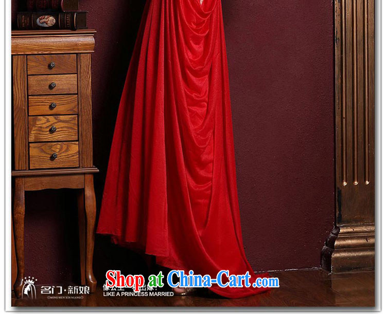 The bride's wedding dresses 2015 New Red wedding dresses toast long evening dress 285 M pictures, price, brand platters! Elections are good character, the national distribution, so why buy now enjoy more preferential! Health