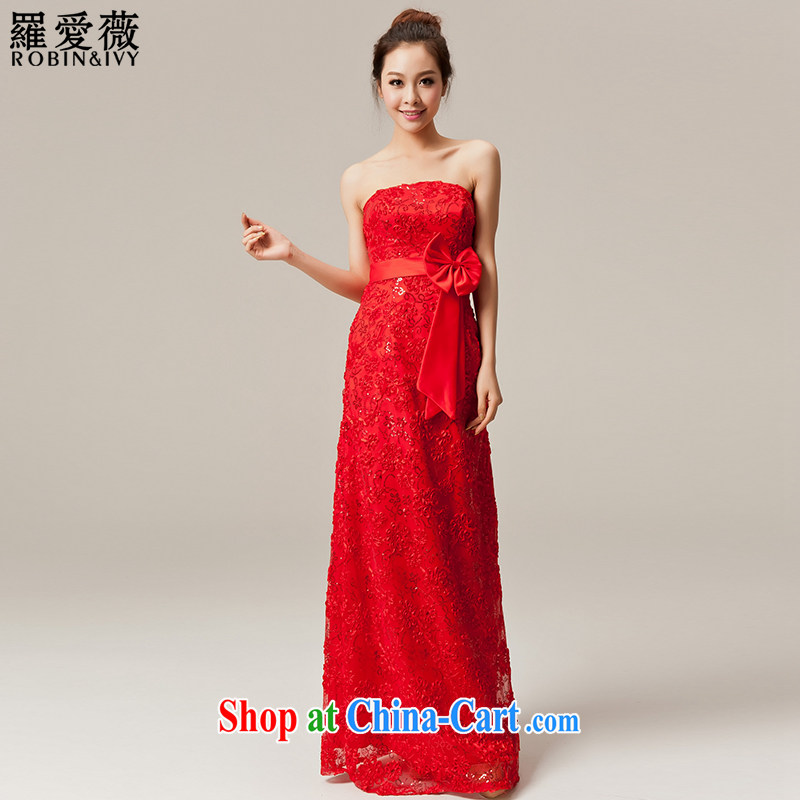 Paul love Ms Audrey EU Yuet-mee, RobinIvy) toast serving New 2015 bridal long wedding dress annual dress L 12,050 red long XL