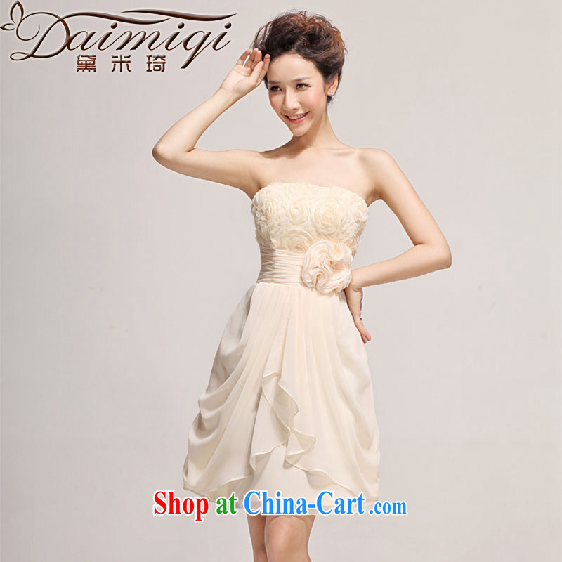 Diane M Ki wedding dresses new 2014 bridesmaid serving short summer sister's dress short skirt marriages champagne color XXL