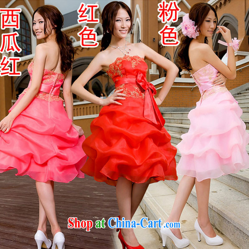 Diane M Ki dress bridesmaid toast dress uniform dress dress short bridesmaid clothing wedding dress small dress pink XXL