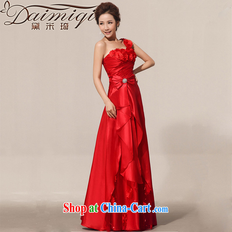 Diane M Qi 2014 new spring Red Beauty retro bride toast wedding service atmospheric Evening Dress red XXL
