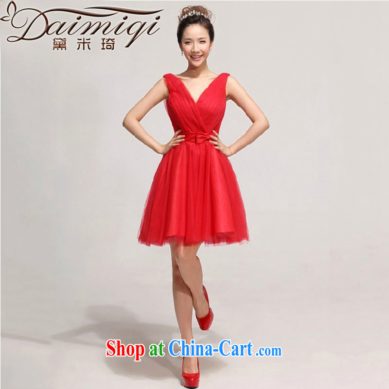 New 2013 marriage short dresses in Europe the Evening Dress Red White bridal gown dress red XXL