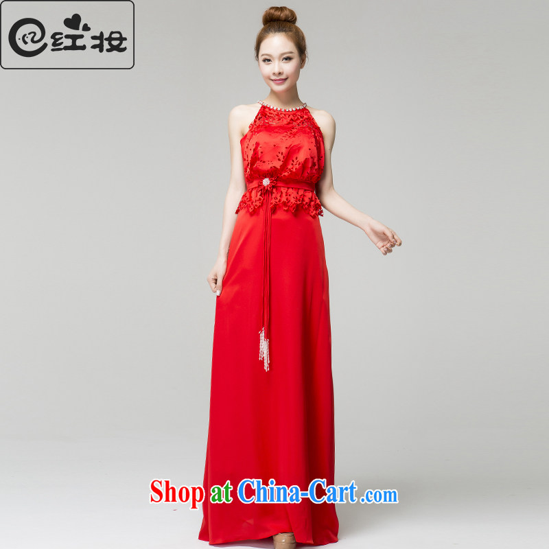Recall that the red makeup spring and summer bridal-dresses also fall red wedding dress toast service beauty long L 13,794 red XL