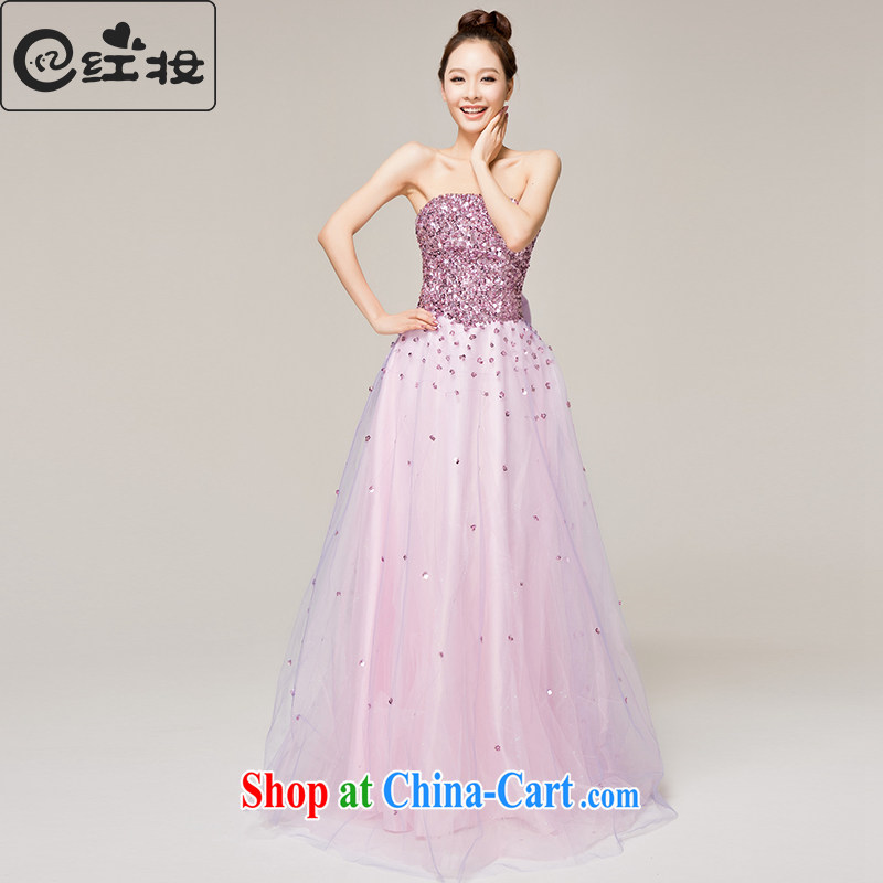 Recall that the red makeup spring and summer wedding dresses bridal diamond jewelry wiped his chest toast wedding dress moderator dress L 12,121 light purple XL