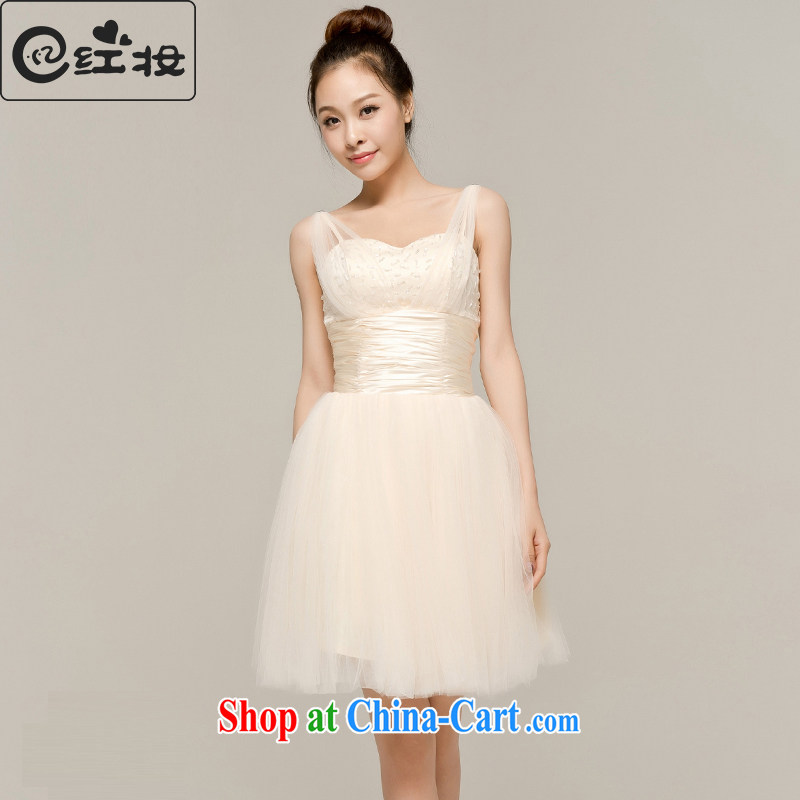 Recall that the red makeup spring and summer new wedding bridesmaid dress the dress skirt short strap with new Korean bridal Dinner served toast L 13,040 light yellow M