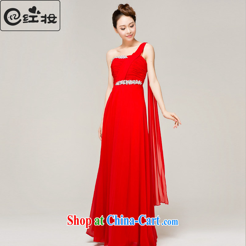 Recall that the red makeup summer wedding dresses new 2015 marriages red dress single shoulder long serving toast dress L 13,022 B XL paragraph