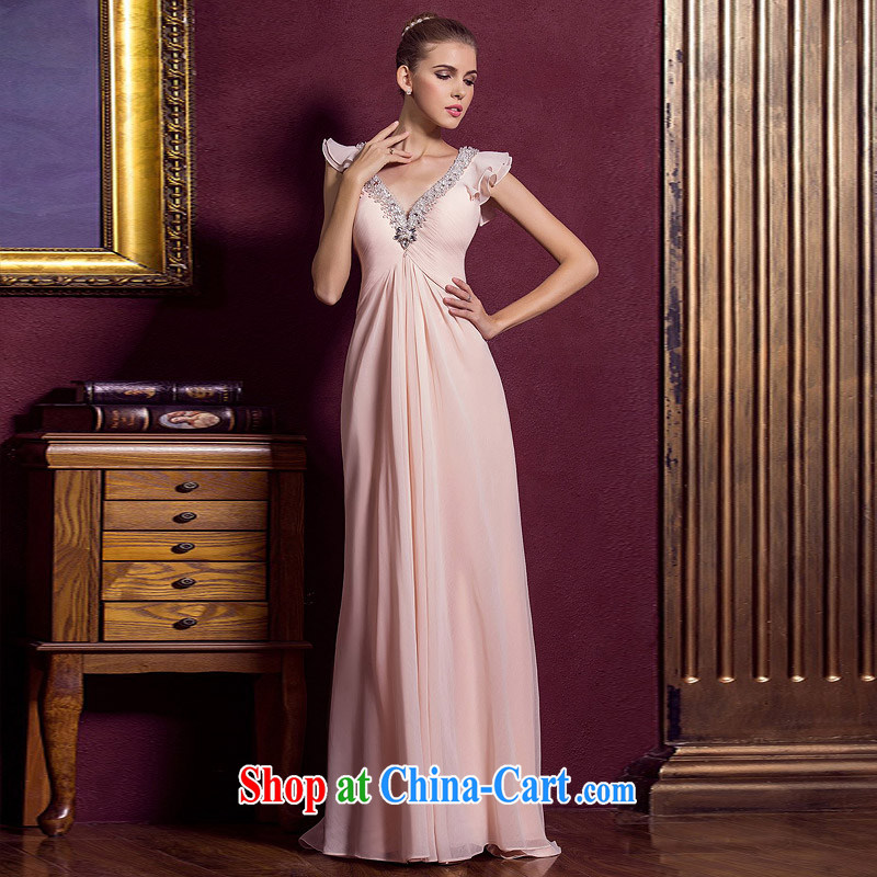The bride's wedding dresses 2015 New Red wedding dresses toast long evening dress 289 pink M, the bride, shopping on the Internet