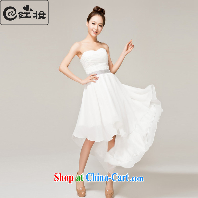 Recall that the red makeup spring and summer bridal wedding wedding dresses short before long bridesmaid dresses small firm white erase chest dress L 12,138 white XL