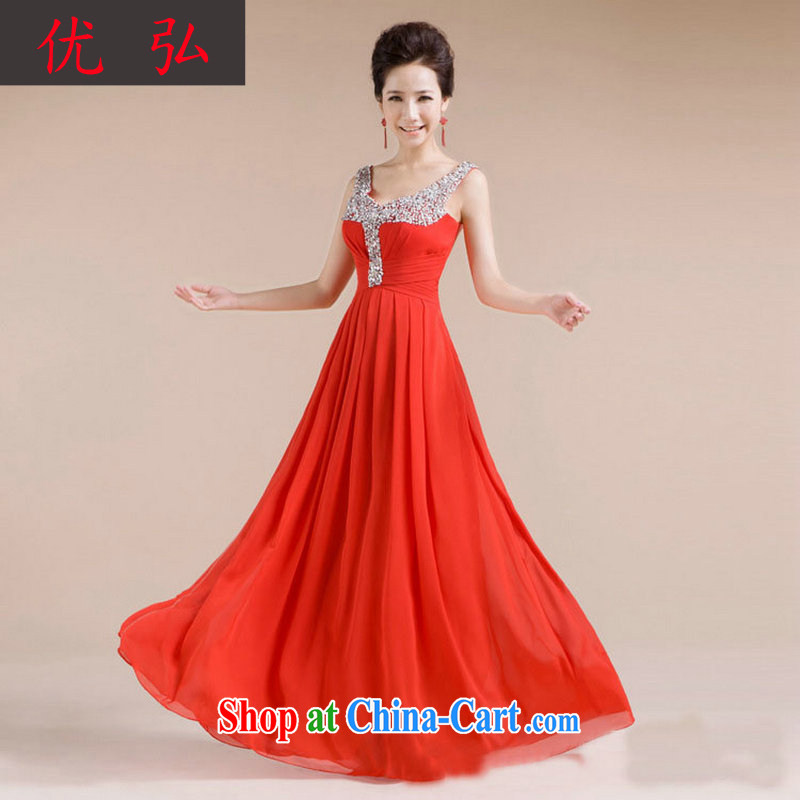 Optimize Hong 2013 new V collar design manual diamond jewelry sexy beauty dress XS 7139 red XXL