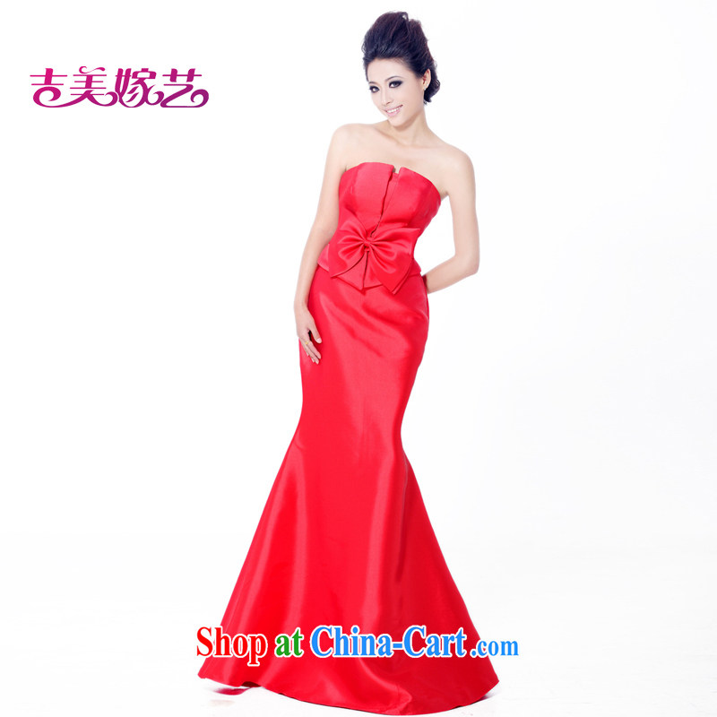 wedding dresses, marry us performing arts 2015 new erase chest Korean Red dress crowsfoot LS 558 bridal gown red L