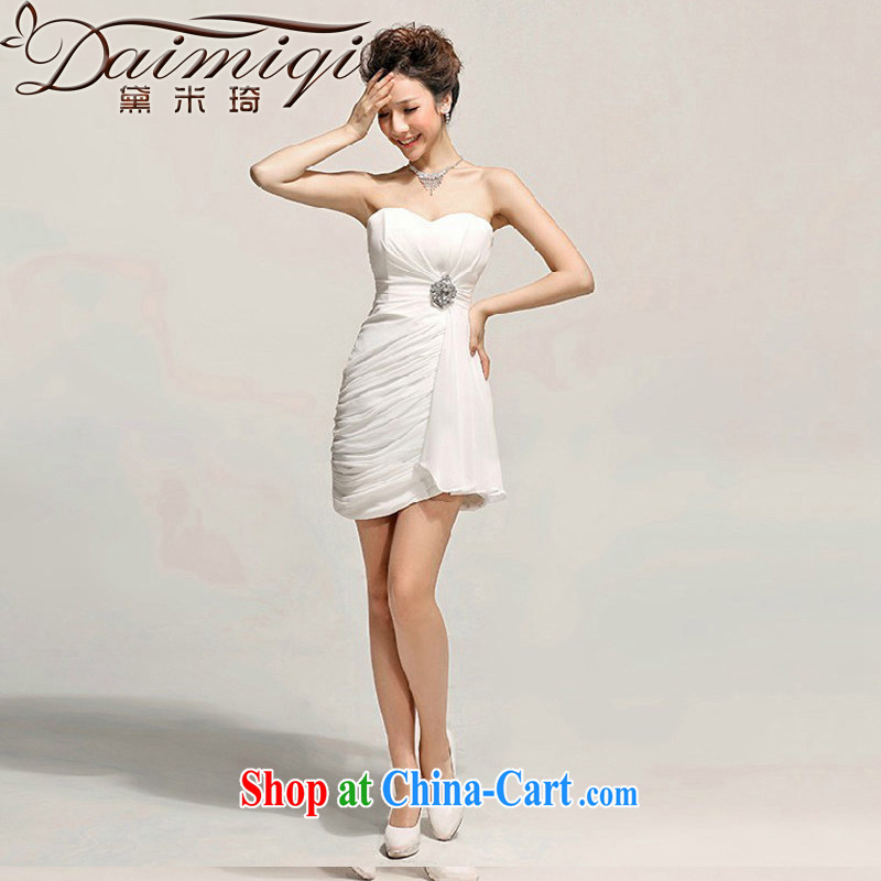 Cultivating Sin toast clothing Evening Dress bridesmaid dress short little princess Mary Magdalene dress chest dresses Korean white XXL