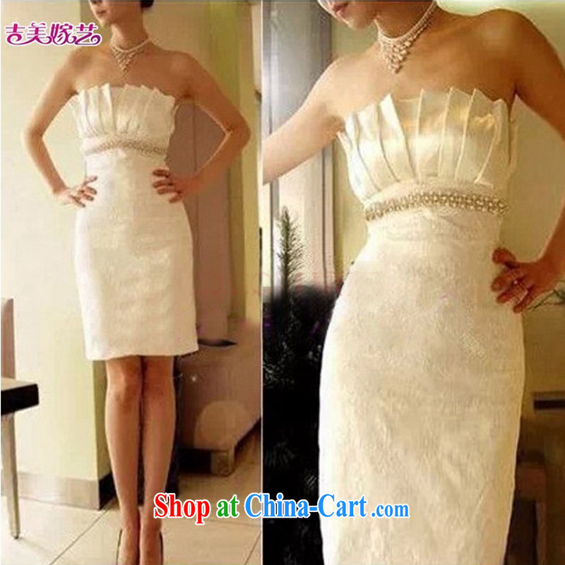wedding dresses, marry us performing arts 2015 new erase chest Korean Princess dress short 012 bridal gown white S