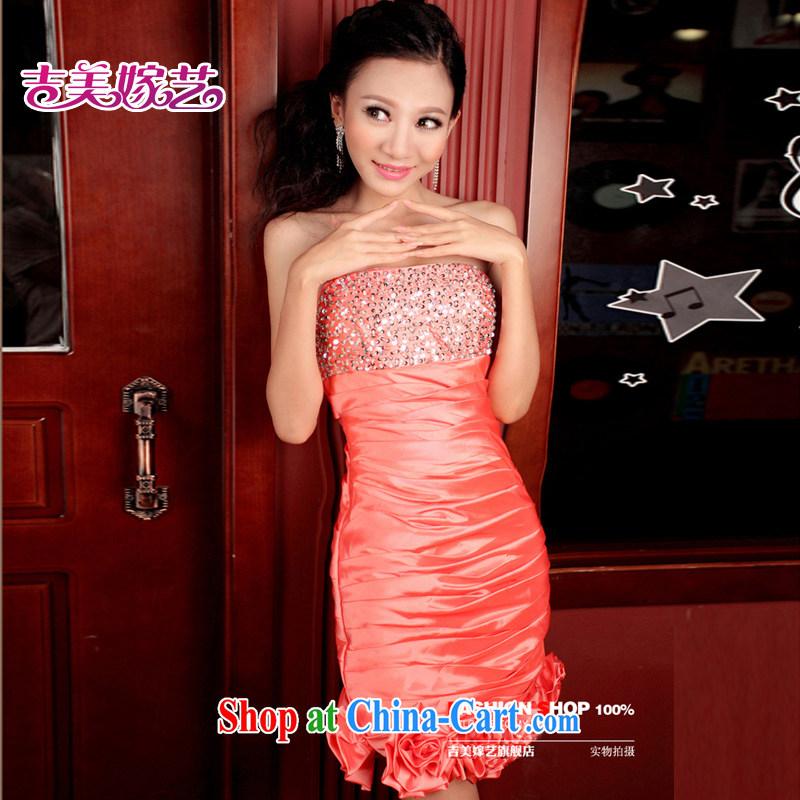 wedding dresses, marry us performing arts 2015 new erase chest Korean Princess dress short 303 bridal dresses watermelon red XL