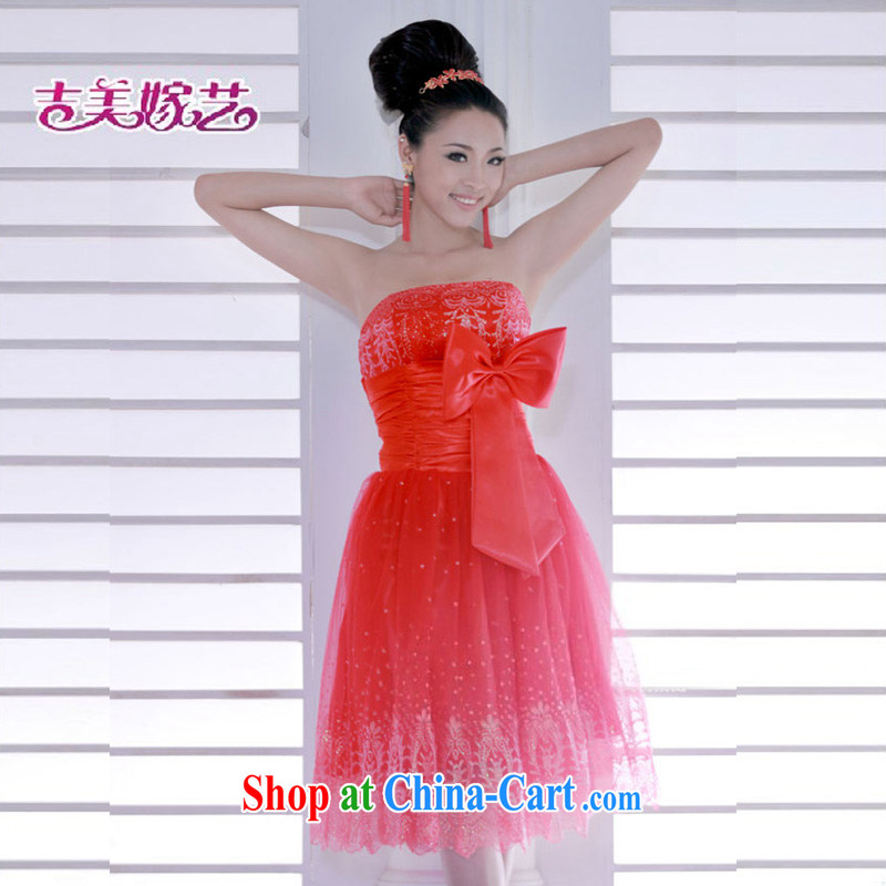 wedding dresses, marry us performing arts 2015 new erase chest Korean dress short L 325 - H bridal dresses red XL