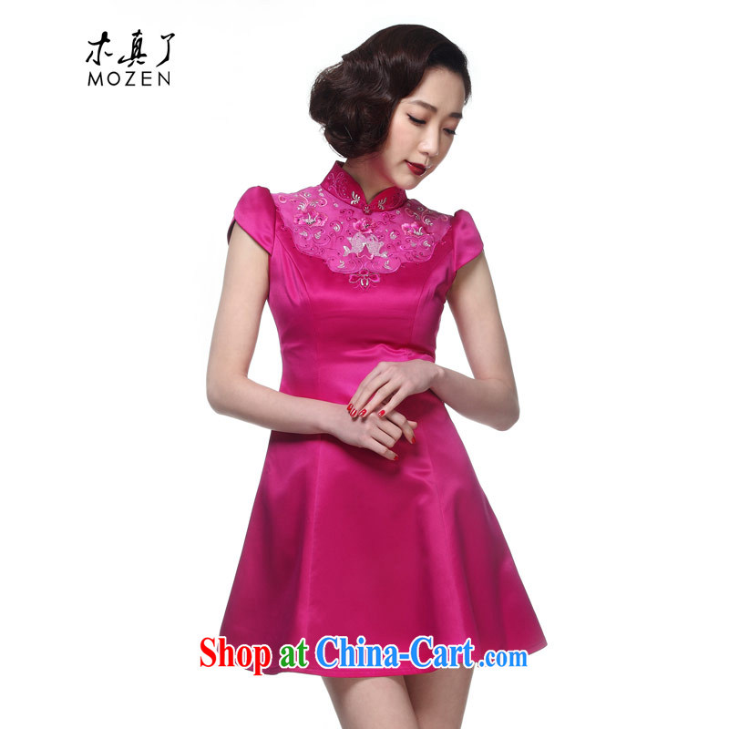 Wood is really the Summer 2015 new Chinese Embroidery, collar dresses evening dress evening dresses, skirts package mail 21,962 18 deep toner XXL