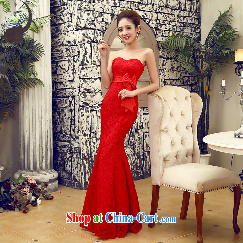 Let the day the marriage toast clothing wedding dress dresses at Merlion performing service for women wedding dresses red tie XL paragraph 2.2 feet waist