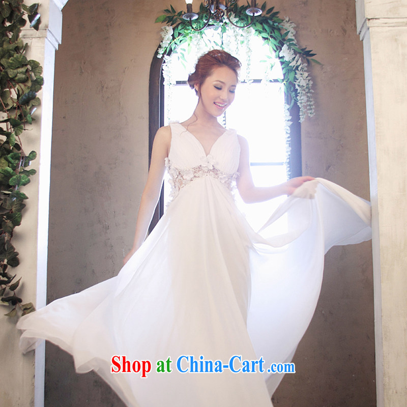 wedding dresses Jimmy married arts 2014 new strap with Korean dress tail LT 1163 the code bridal gown white 14 #