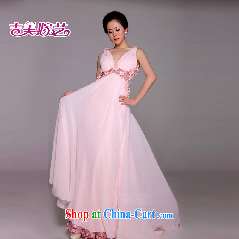 wedding dresses Jimmy married arts 2014 new strap with Korean Athens pink LF F 1164 larger bridal gown pink 14 _