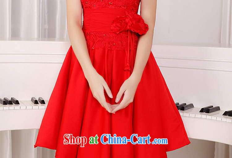 Tslyzm 2015 spring and summer new bridal dresses wedding dresses lace red package shoulder short bows dress uniform dress the betrothal service female Red XXL pictures, price, brand platters! Elections are good character, the national distribution, so why buy now enjoy more preferential! Health