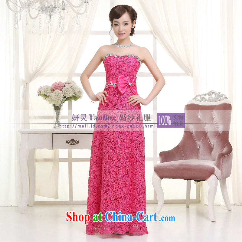 Her spirit_YL 2014 new bride wedding dresses Evening Dress toast serving long - 14,052 red XXXXL