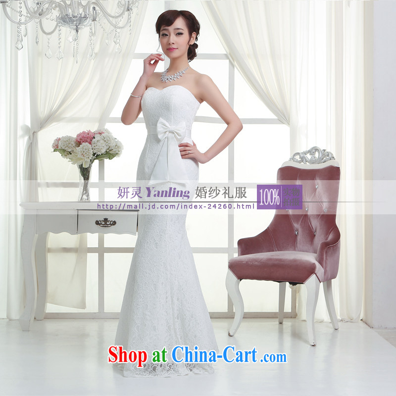 Her spirit/YL 2014 new bride wedding dresses Evening Dress toast serving long - 14,054 white XXXXL