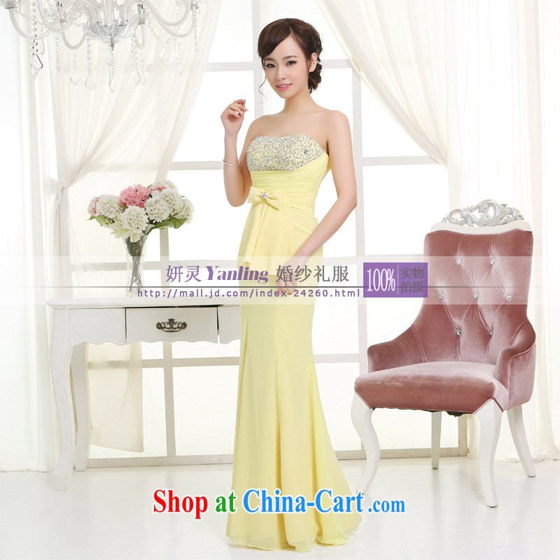 Her spirit_YL 2014 new bride wedding dresses Evening Dress toast serving long - 14,043 to specify any color XXXXL