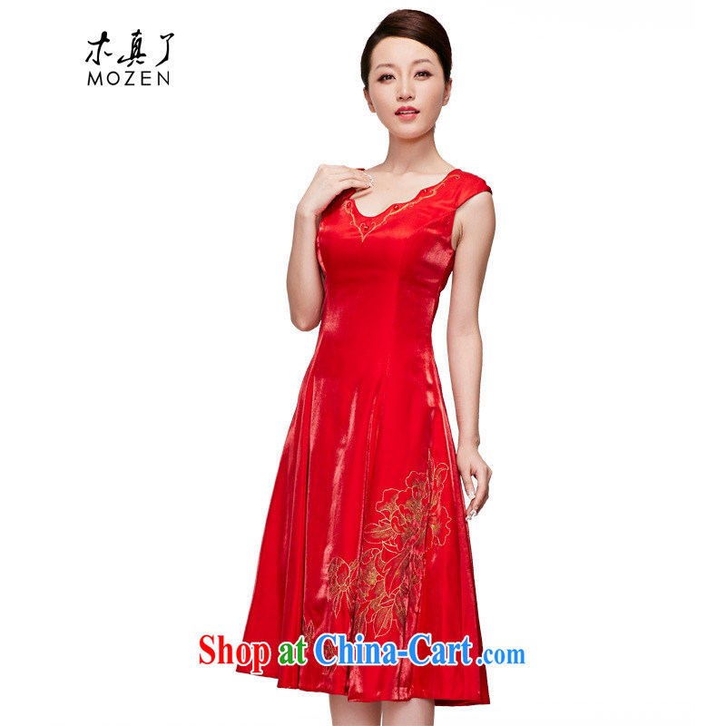 Wood is really the 2015 spring and summer red bridal gown Chinese Embroidery wedding dresses dresses wedding toast serving 70,106 05 red XL