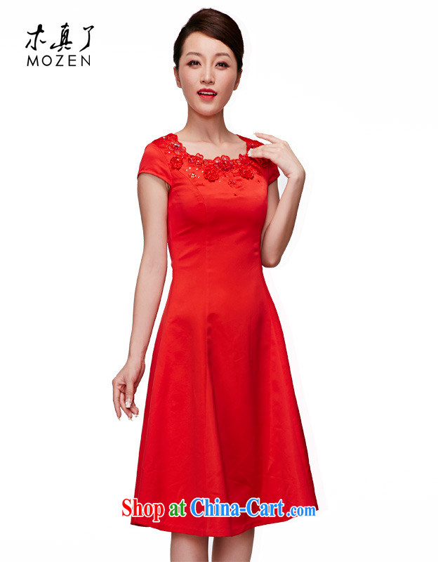 Wood is really the 2015 spring and summer new Chinese bridal dresses wedding dresses sweet temperament bridal toast cheongsam dress 01,026 04 red S