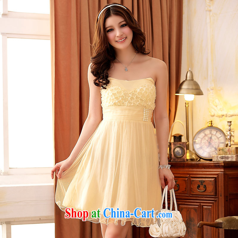 JK 2. YY stylish and colorful Euro-style palace, erase Chest dinner will bridesmaid dress dresses champagne color XXXL