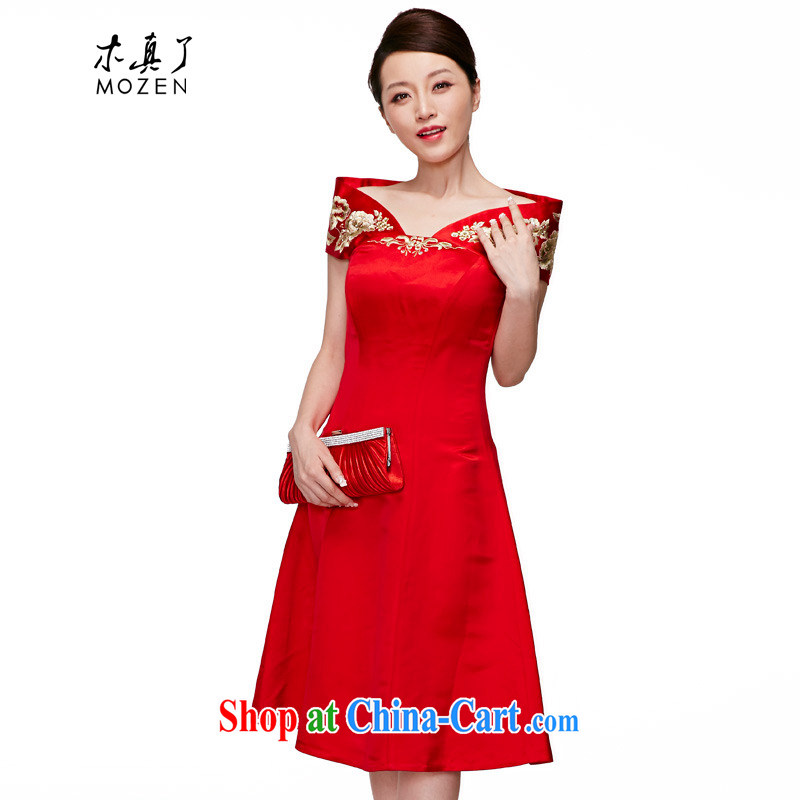 Wood is really the 2015 spring and summer new Chinese sleeveless silk elegant qipao bridal dresses loaded package mail 22,095 05 red L