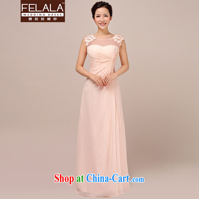 Ferrara spring dress Korean marriages served toast raw color snow spinning high-waist the forklift truck dress skirt pink XL Suzhou shipping