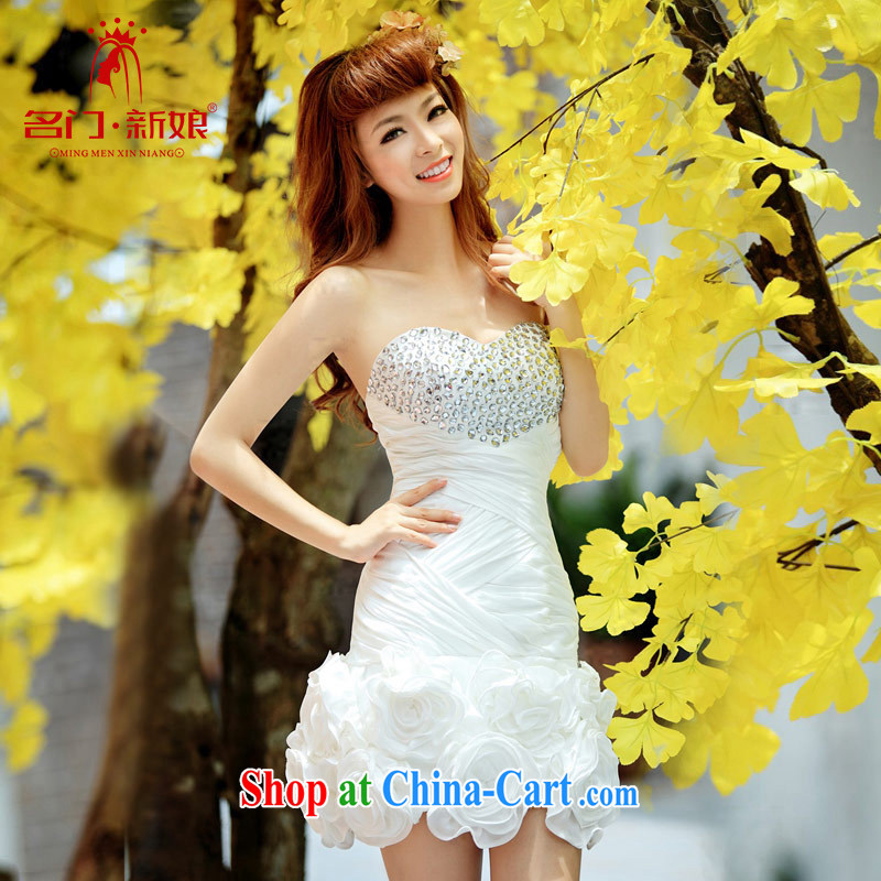 The bride's wedding dresses short dresses small toast serving evening dress wedding bridesmaid 246 serving L