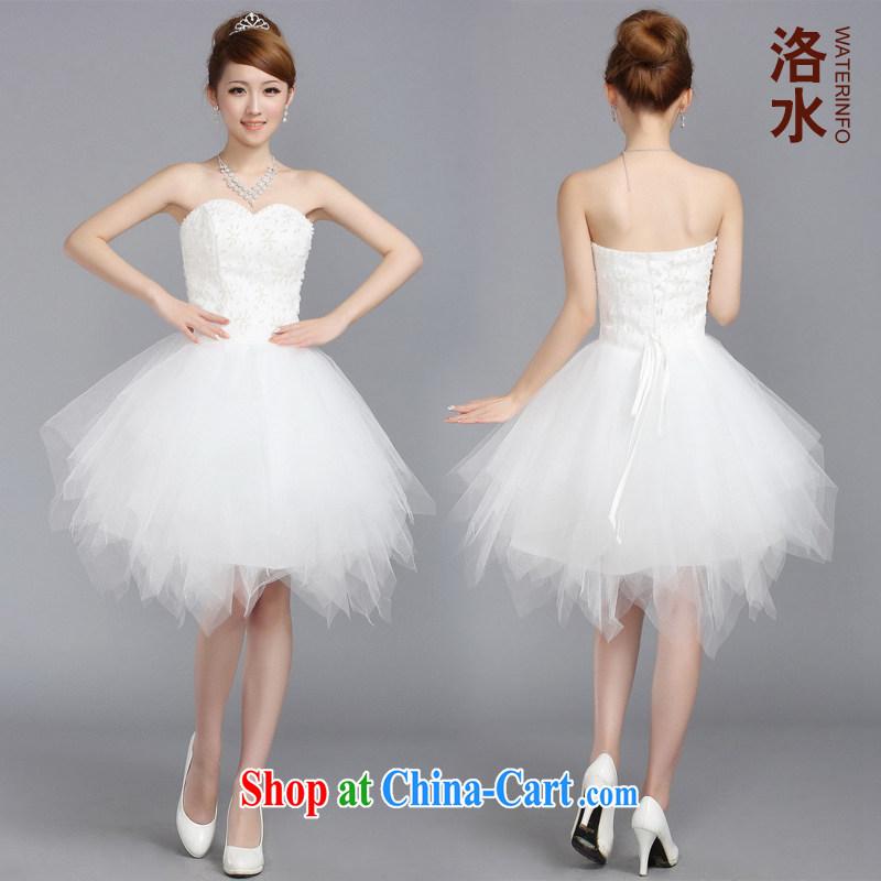 The female 2014 Princess small dress short shaggy dress wedding bridal bridesmaid toast small dress white XXL