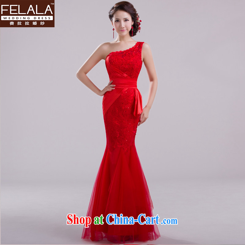 Ferrara upscale 2015 New Red bridal crowsfoot long bows dress girl lace evening dress summer red XL
