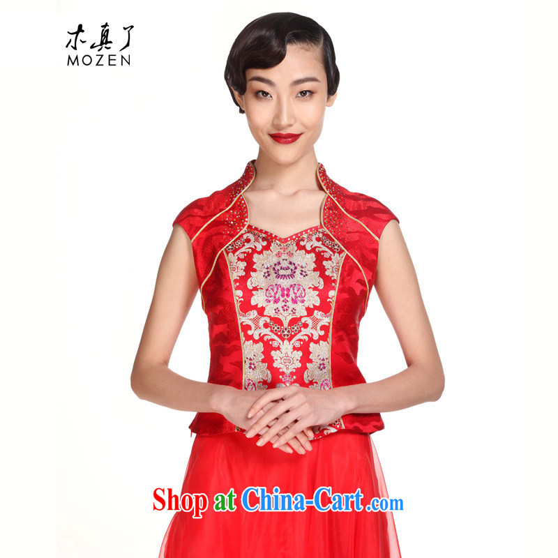 Wood is really the MOZEN 2015 Chinese brides with wedding dresses toast Tang women T-shirt package mail 21,913 04 red XXL