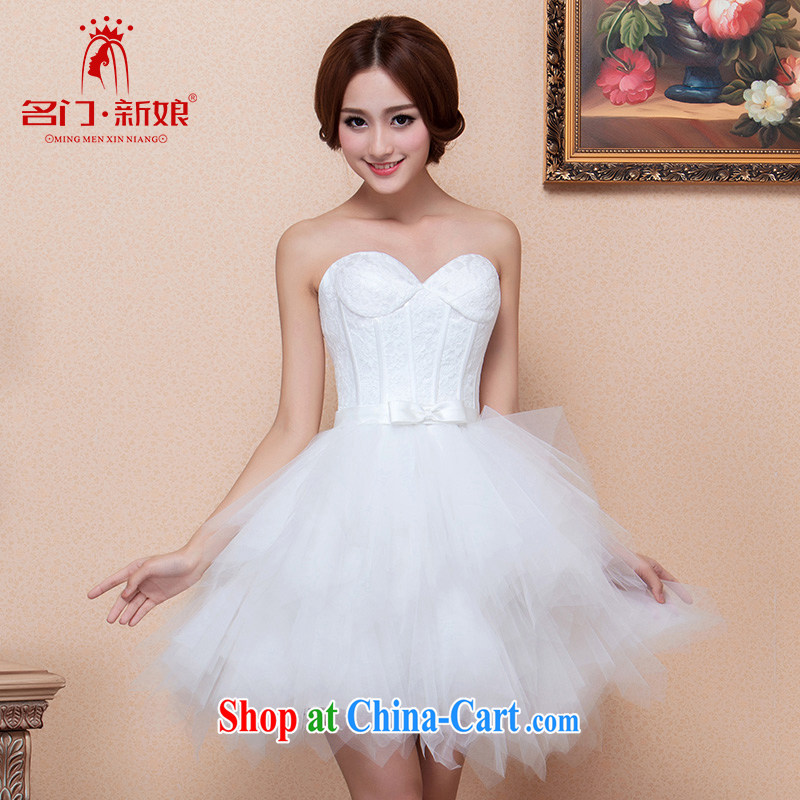 The bride's 2015 new cute little dress bridesmaid dresses small Princess Mary Magdalene dress chest 126 L