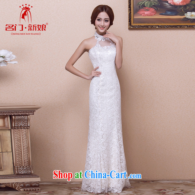 The bride's 2015 new dress champagne color dress, diamond luxury mount also dress 691 L