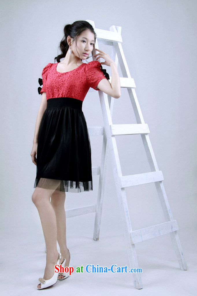 Light (at the end QIAN MO) white collar bow tie Openwork flowers short-sleeved bridesmaid dresses small sister dress dress dress 128 red with black are code pictures, price, brand platters! Elections are good character, the national distribution, so why buy now enjoy more preferential! Health