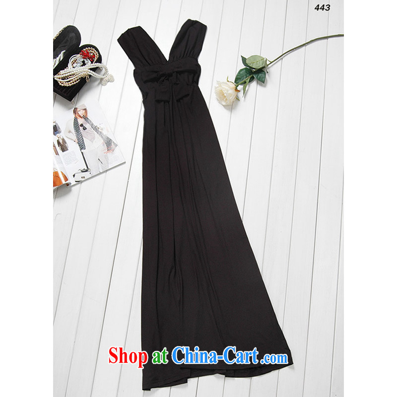 Shallow end (QIAN MO) 2014 European Dress, sexy Bow Tie dress dress at night with 443 more black XL