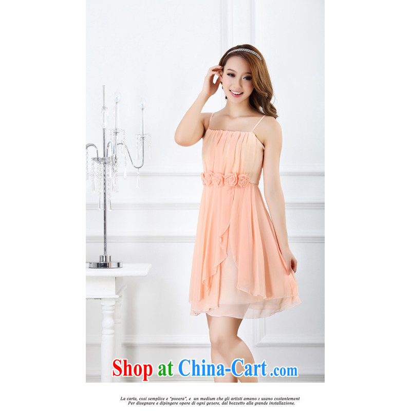 Shallow end (QIAN MO) 2014 sweet little princess roses bridesmaid dresses small moderator dress dress 9005 pink are code