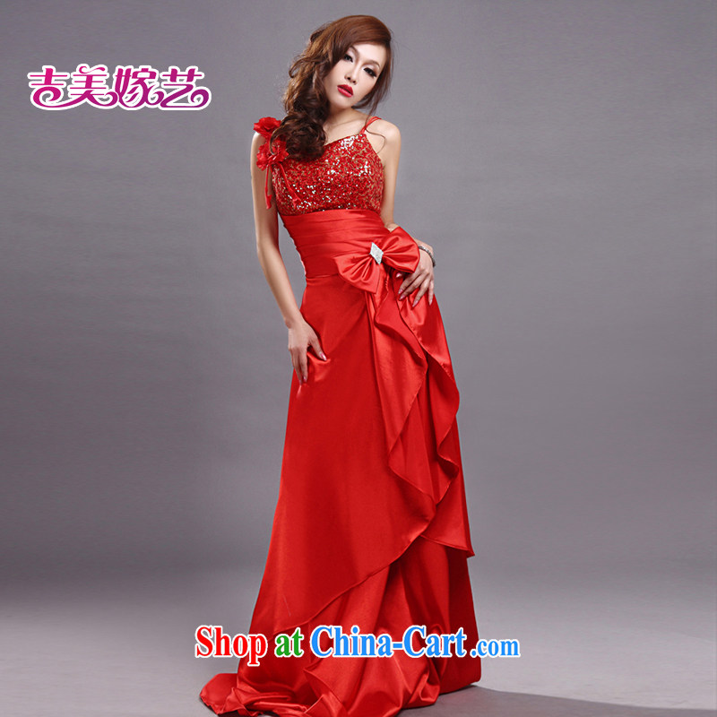 wedding dresses Jimmy married arts 2015 new strap with Korean Red Beauty fall LS 275 bridal gown red XL