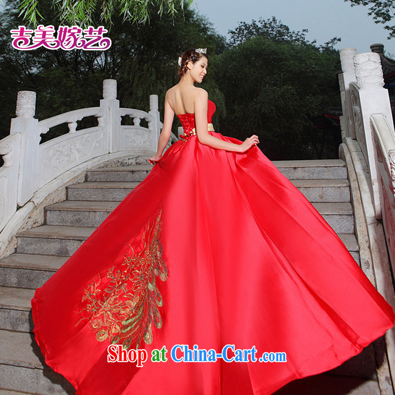 wedding dresses, marry us performing arts 2015 new erase chest Korean Red Tail LT 242 bridal gown red XL