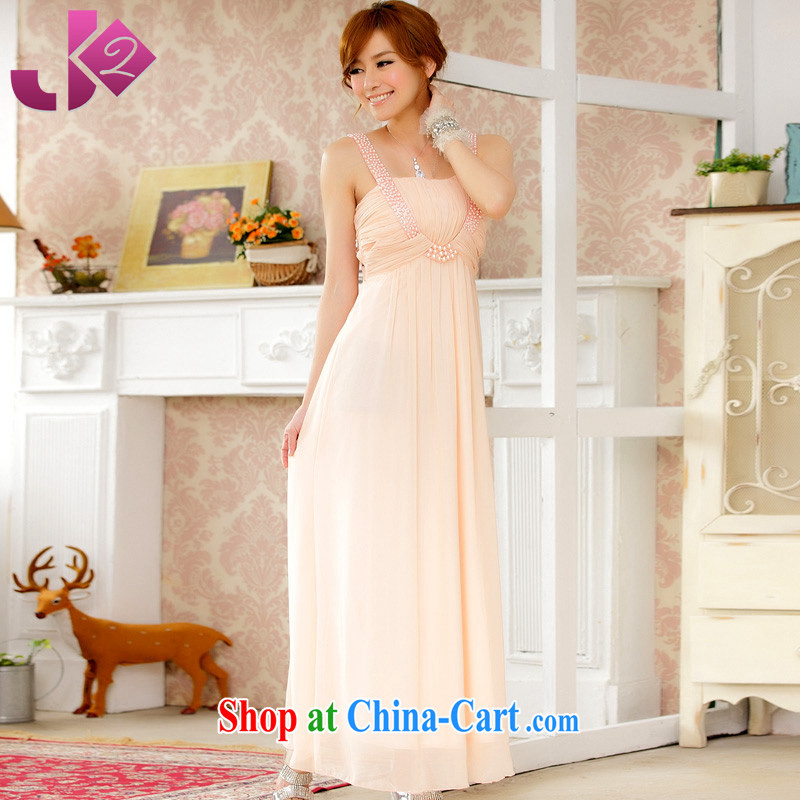 JK 2. YY high-end atmosphere manually staple-ju long skirt snow woven dresses large yards, dress Evening Dress dinner pink are code 100 recommendations about Jack