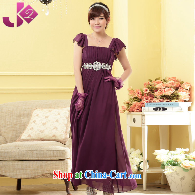 JK 2. YY high atmospheric fine diamond chain tension the belt cover poverty larger dresses snow woven long skirt evening gown purple XL 3 170 recommendations about Jack